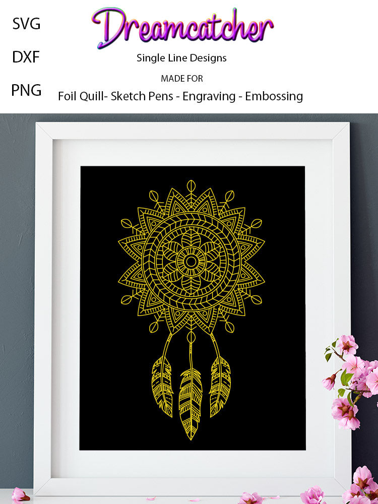 Dreamcatcher for Foil Quill|Single Line Design example image 2