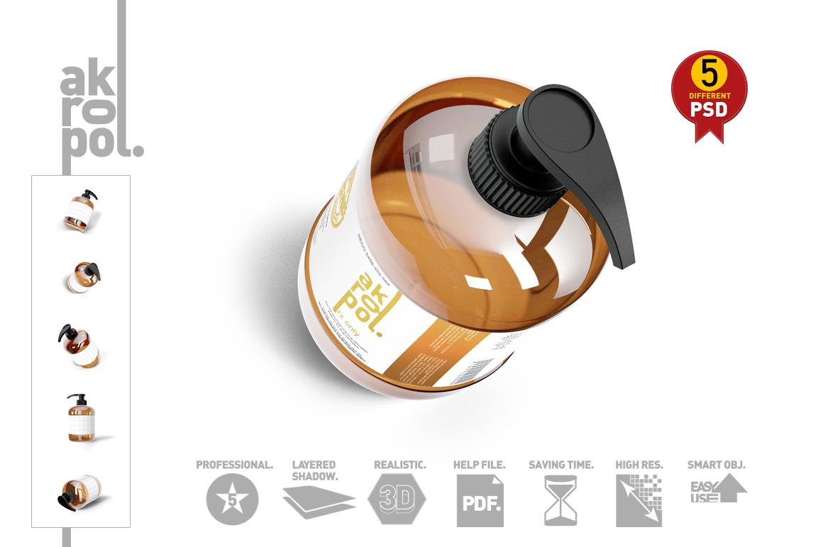 Amber Pump Bottle example image 3