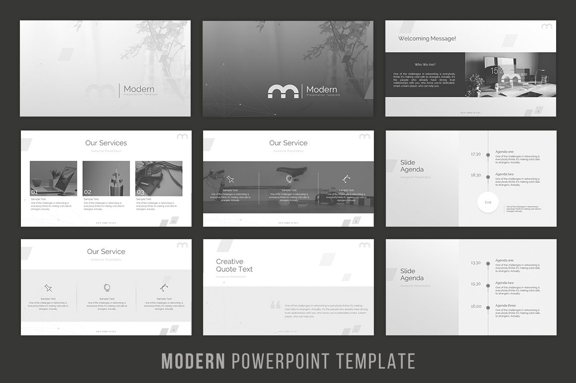 Modern - Powerpoint Template example image 2