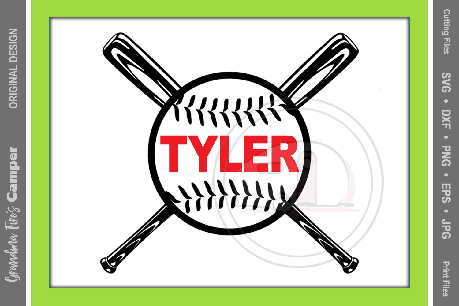 Baseball decal svg personalize helmet decal example image 2