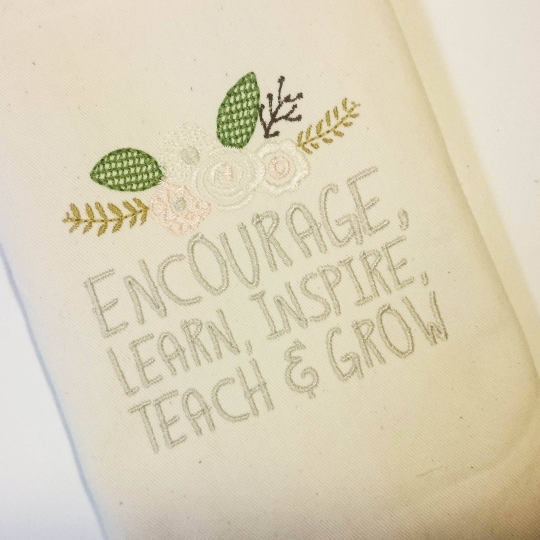 Teachers Day, Thank You Teacher, Quote for Teacher Embroidery Design Instant Download Digital File Hoop 4x4 5x7 6x10 example image 2
