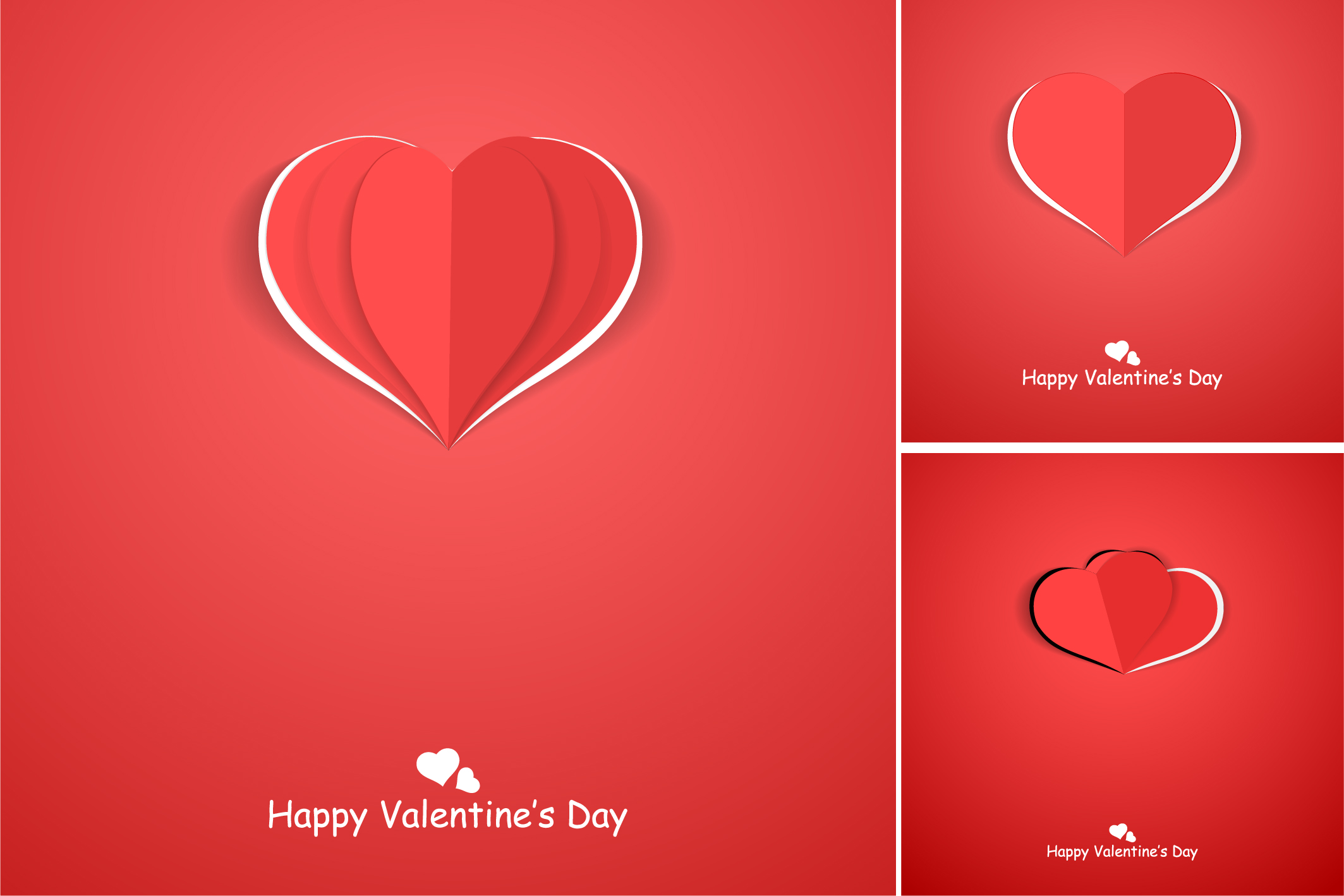 Red postcards with origami hearts. example image 7