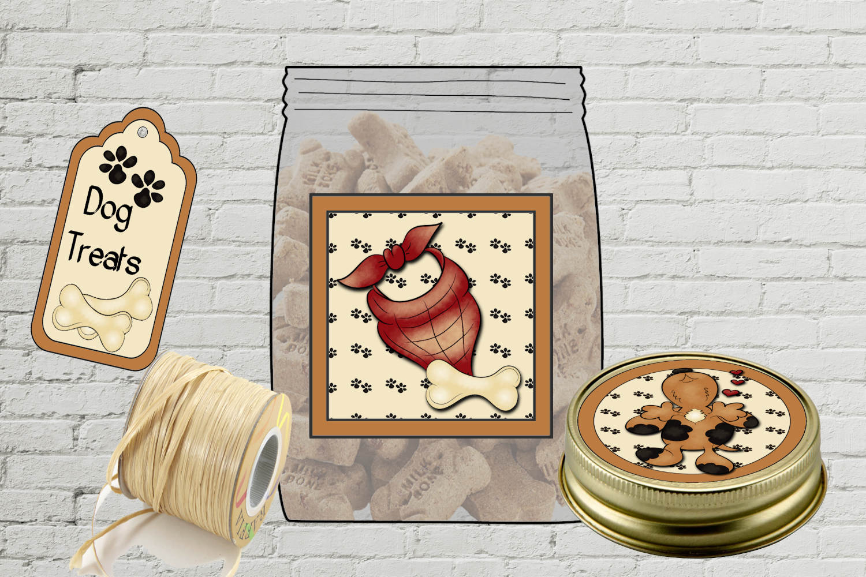 Dog Treat Jar Kit - labels & tags example image 2