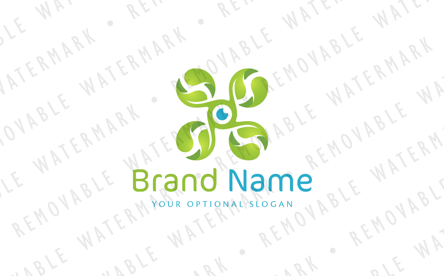 Green Drone Logo example image 2