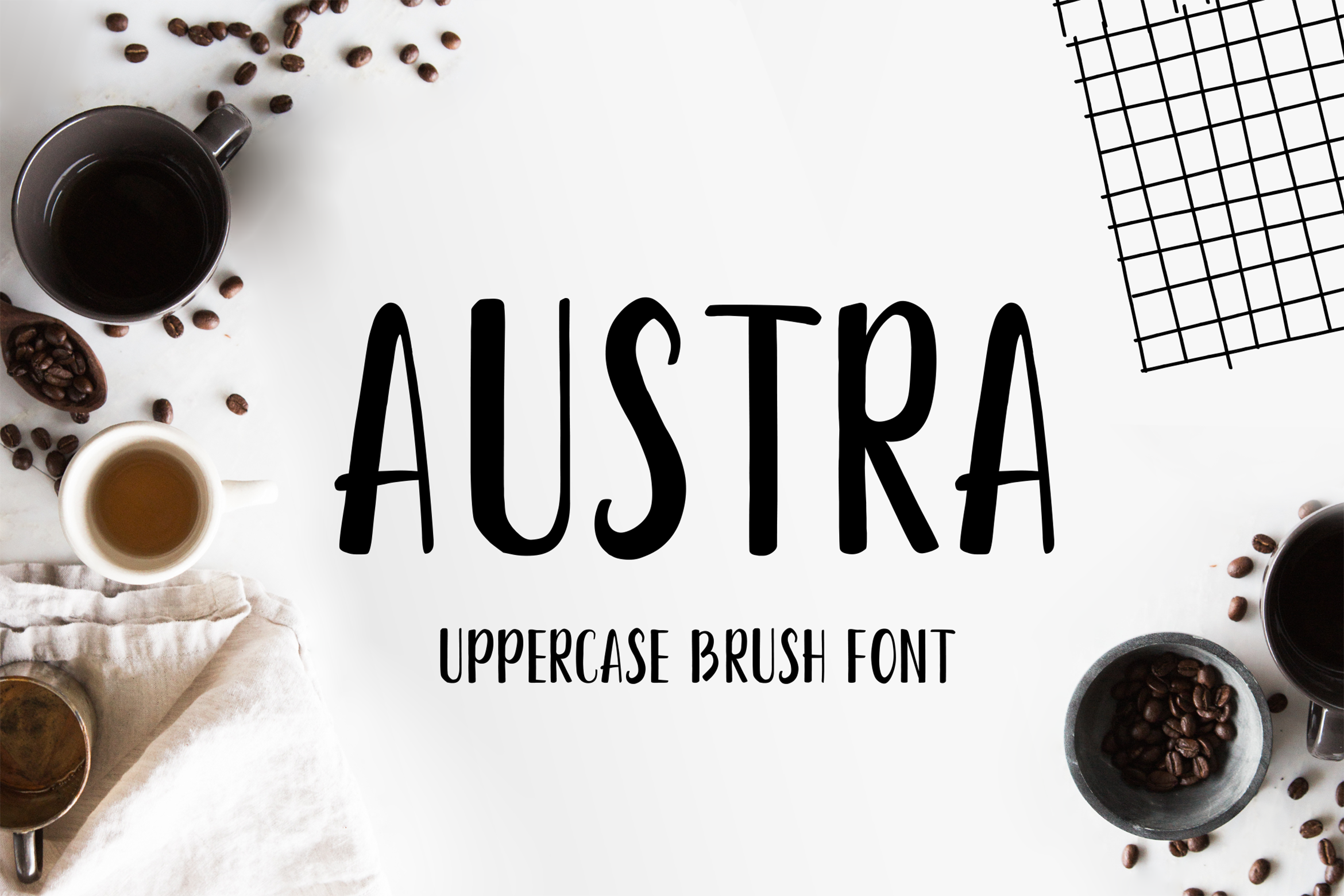 Austra Uppercase Font example image 1
