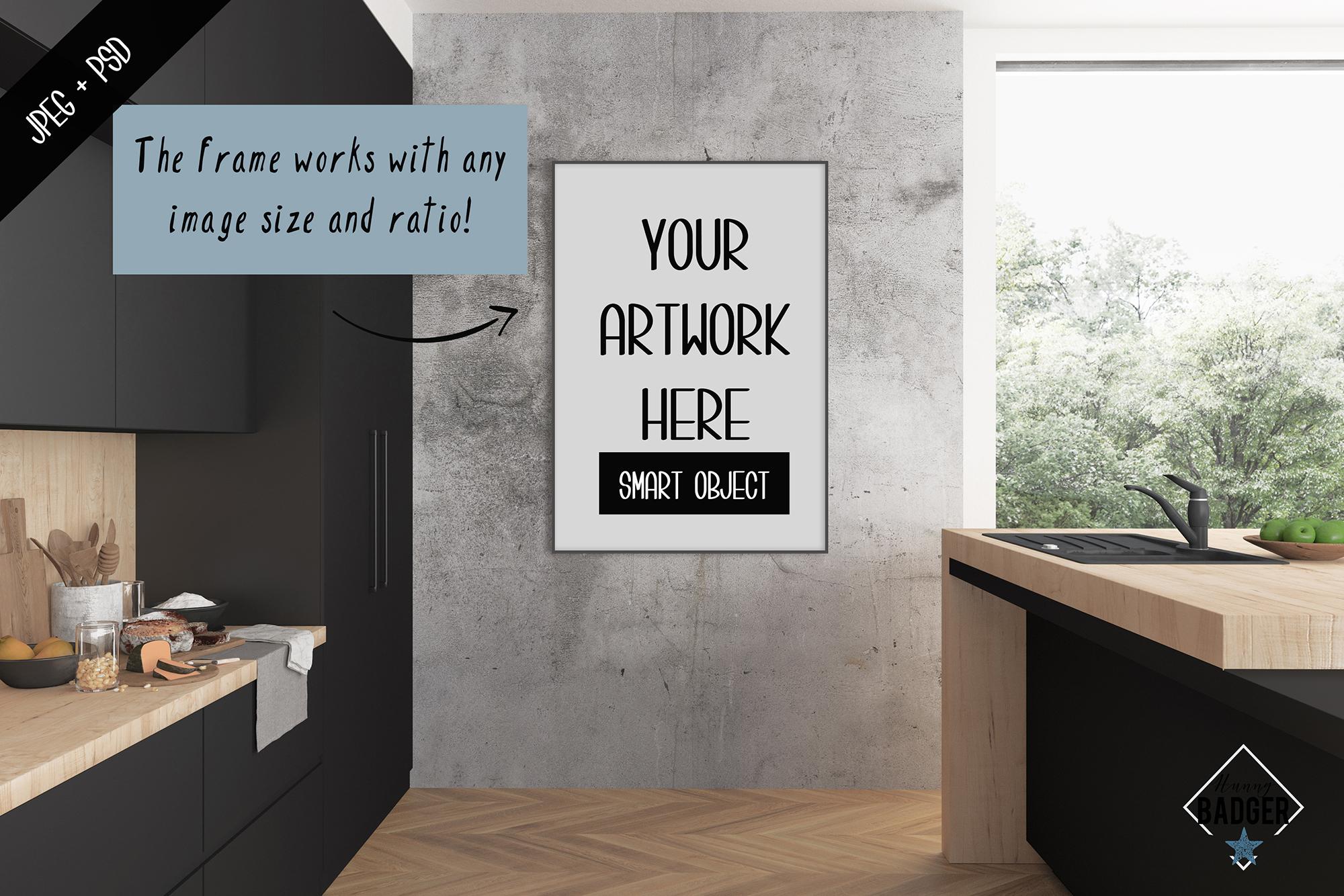 Interior mockup - frame & wall mockup creator example image 2