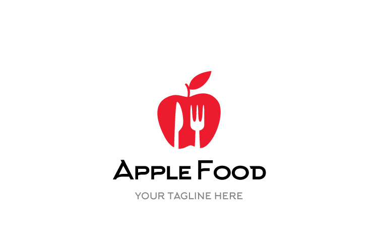 Food Apple Restaurant Logo example image 1