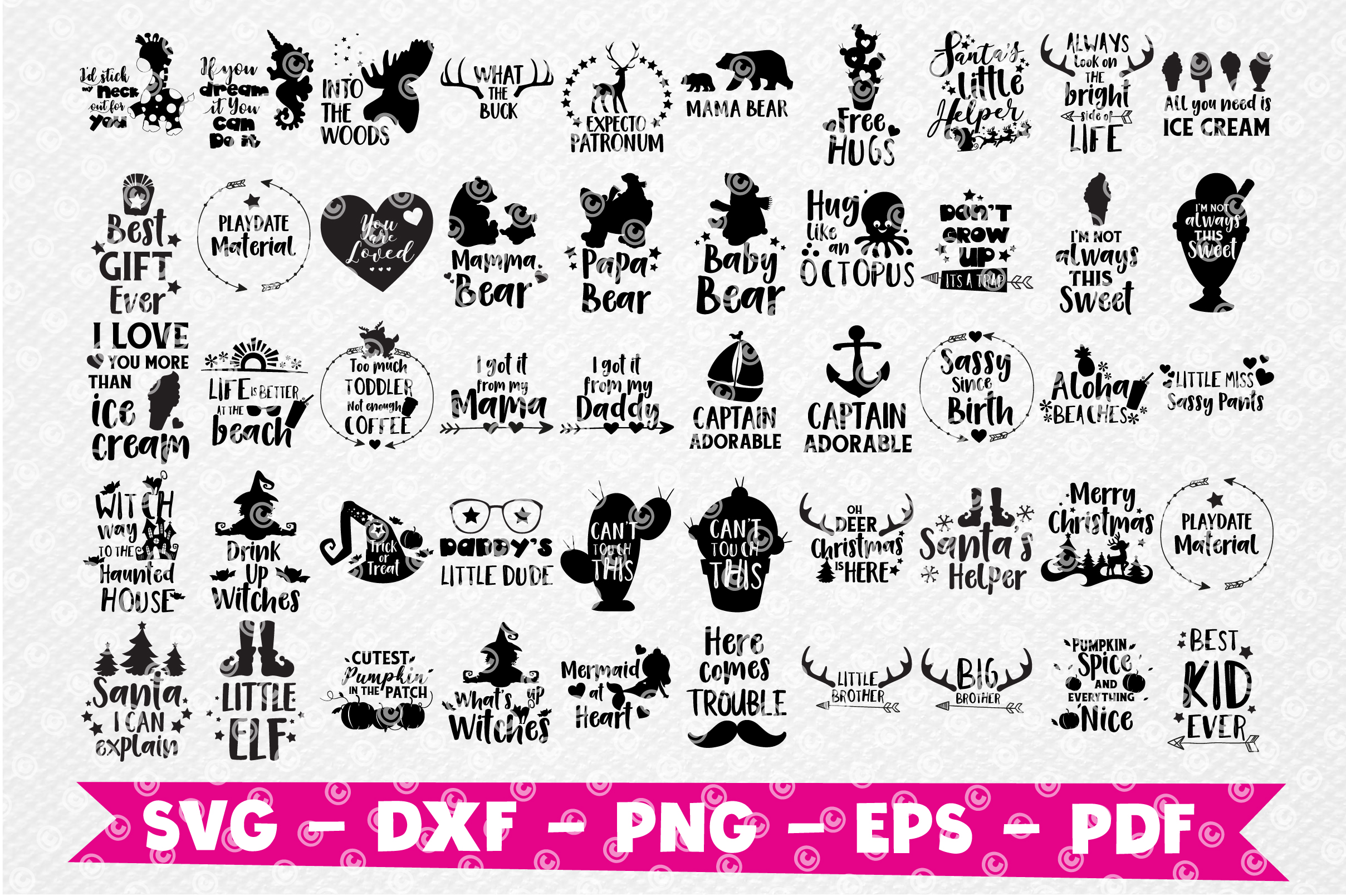Craft MEGA BUNDLE, 150 in 1, cutting file svg, dxf, png, eps example image 4