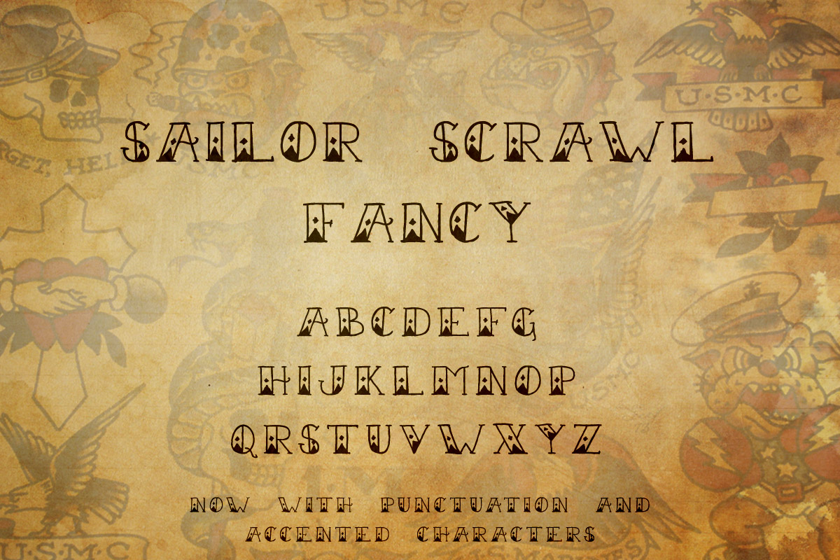 Tattoo Font Collection example image 12