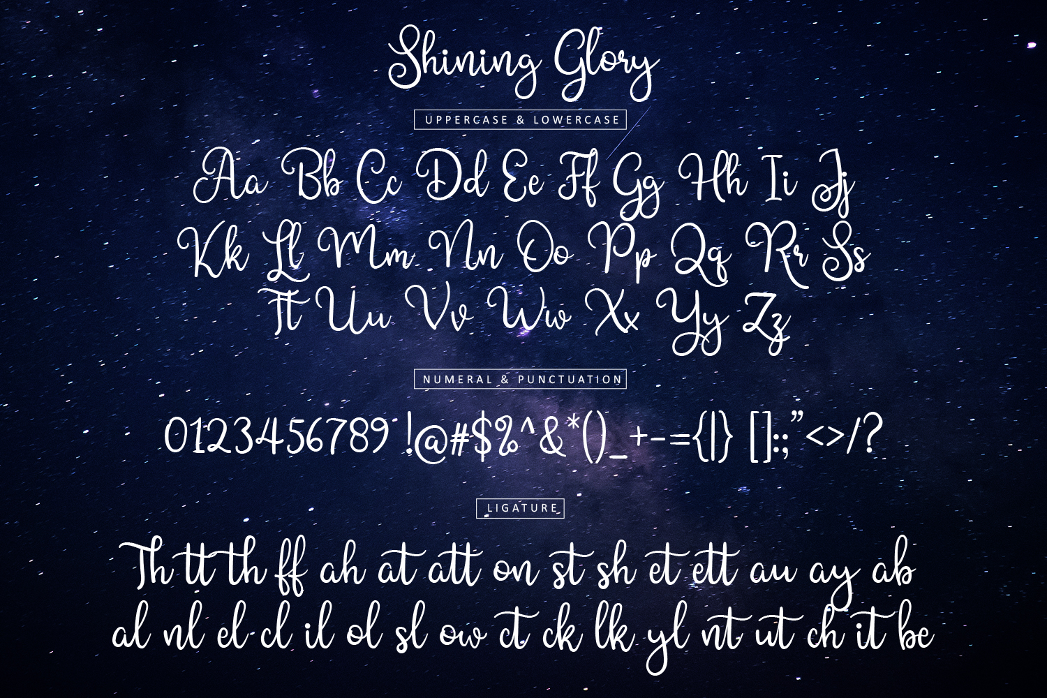 Shining Glory Script Font example image 10