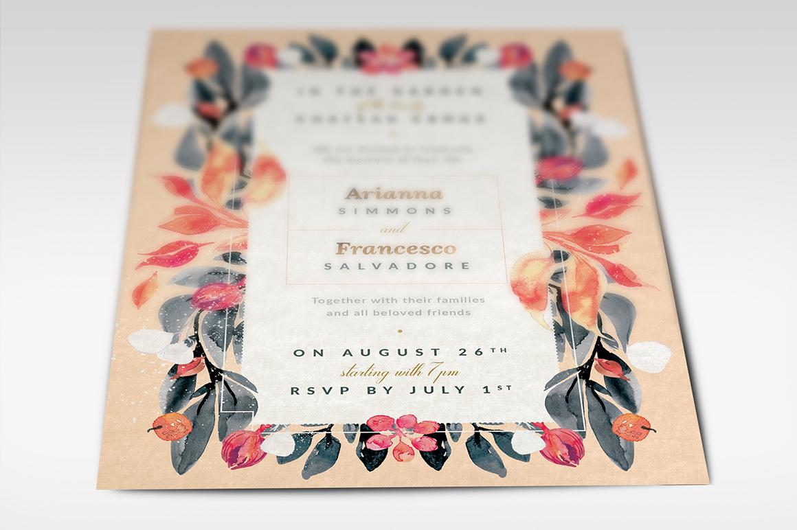 Blush Noir Wedding Invite III example image 5