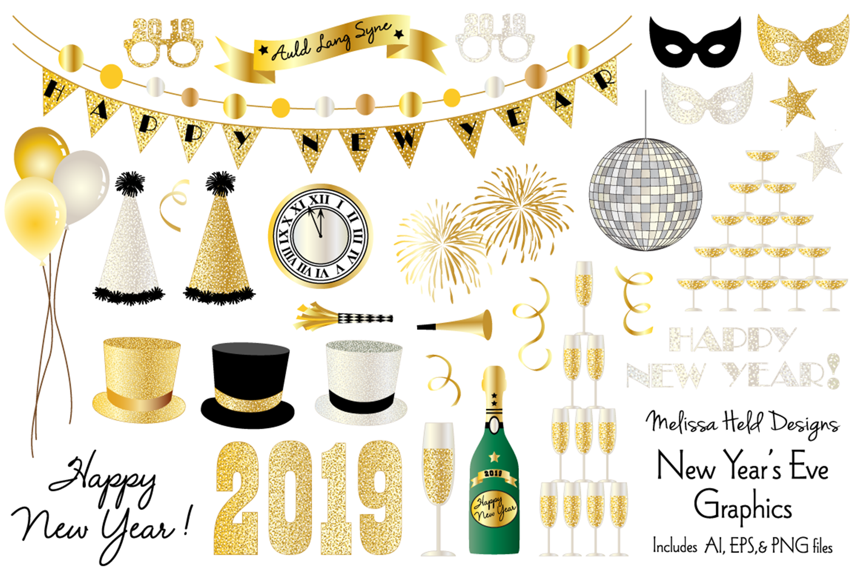 New Year's Eve 2019 Graphics example image 1