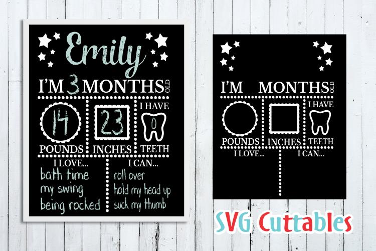 Baby Milestone Board |Cut File example image 1