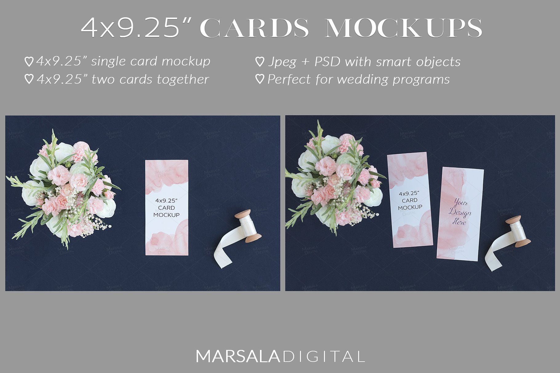 Blush and Navy Wedding Mockup Bundle example image 10