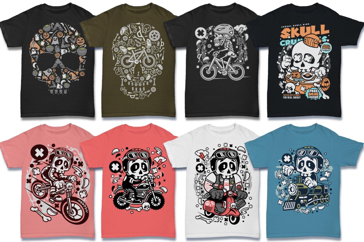 Cartoon Vector #6 Tshirt Design Bundle example image 24