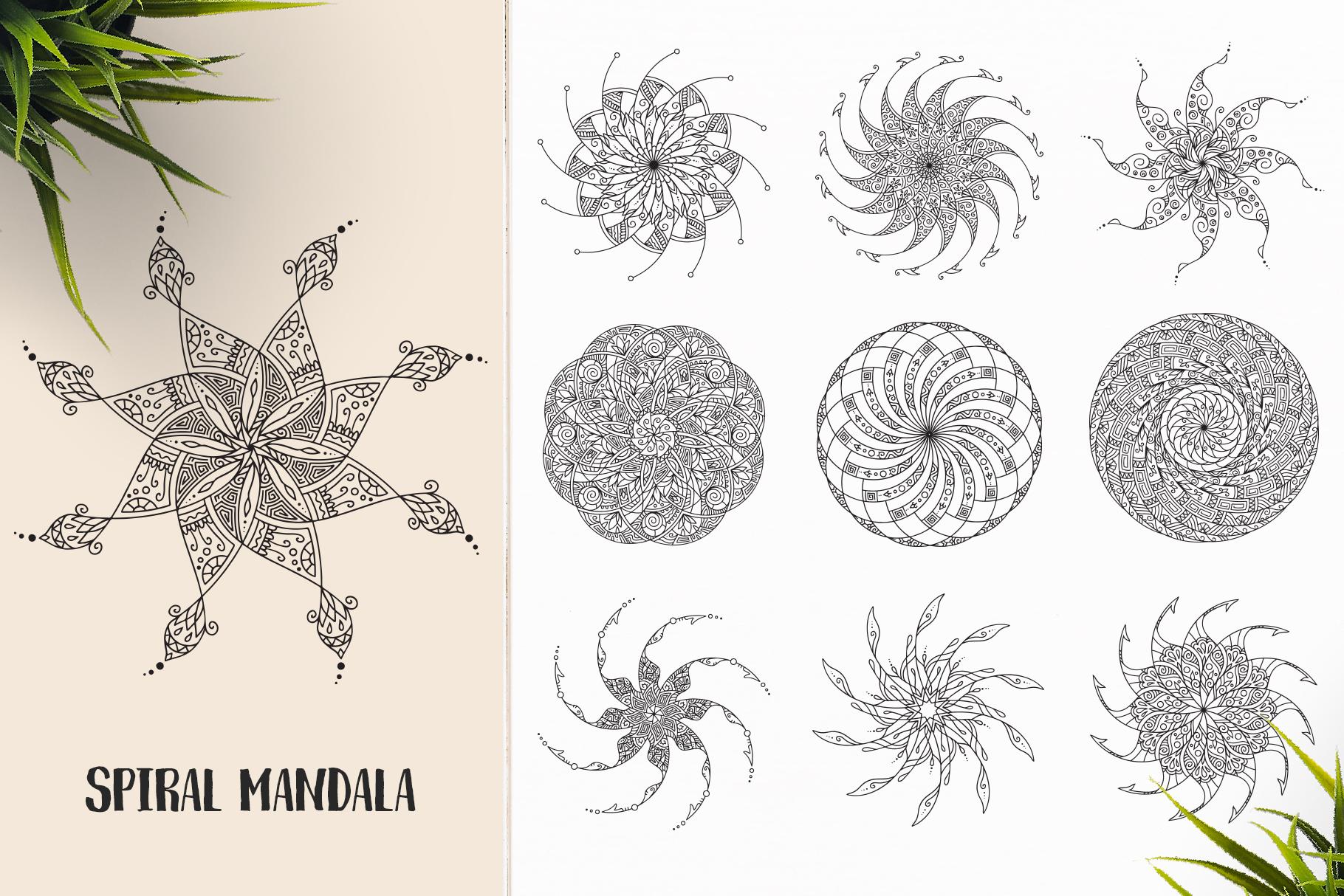 530 Vector Mandala Ornaments Bundle example image 21