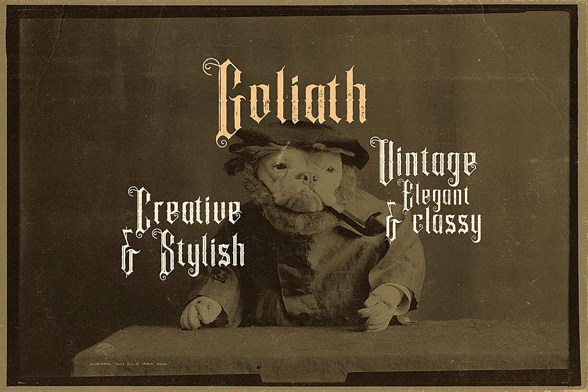 Goliath - Display Font example image 4