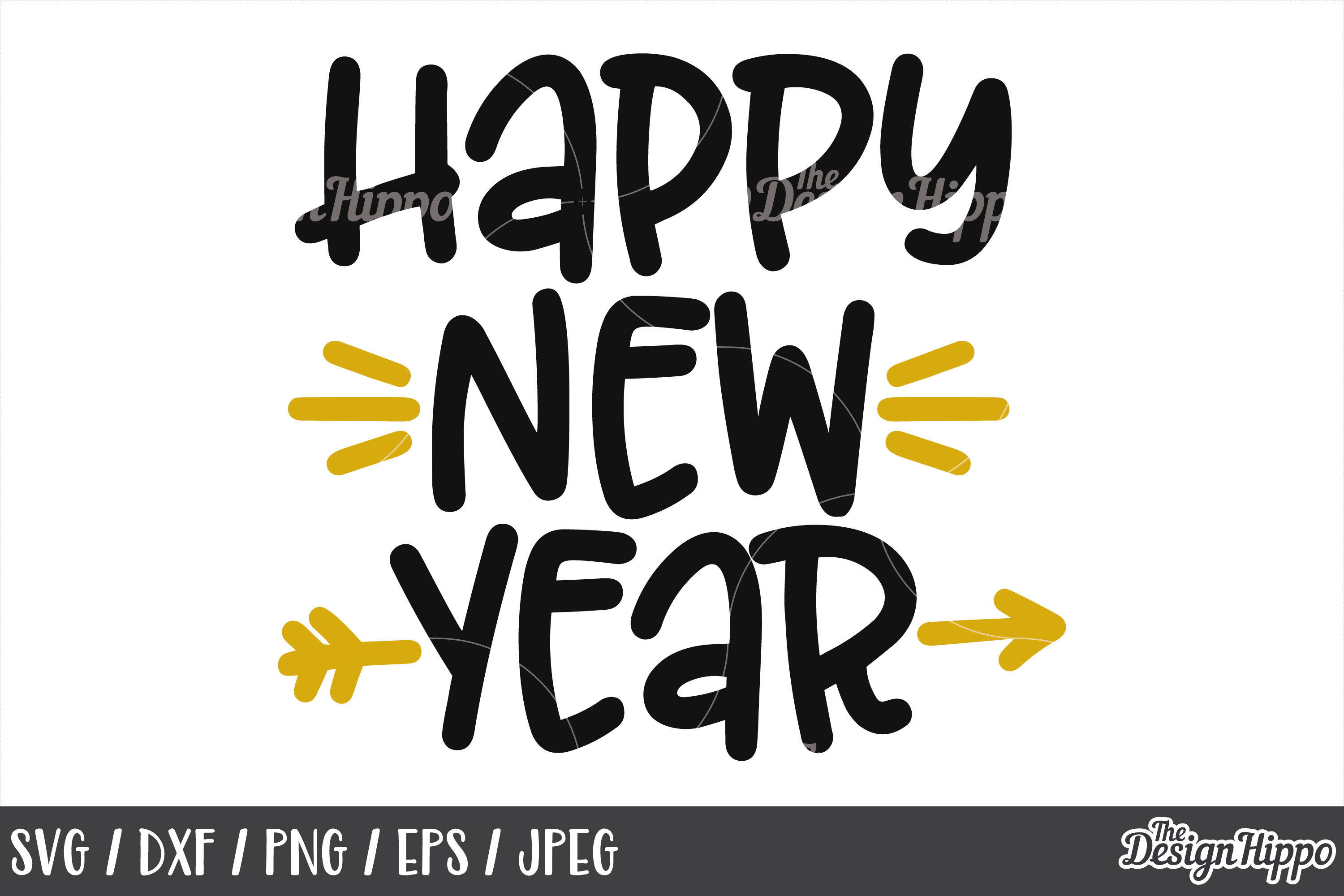 Happy New Year Font 33