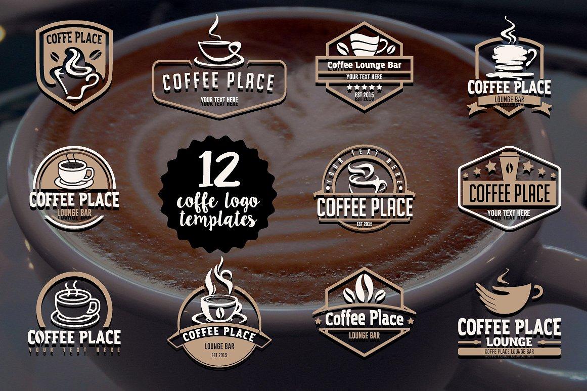 12 coffee logo templates example image 1