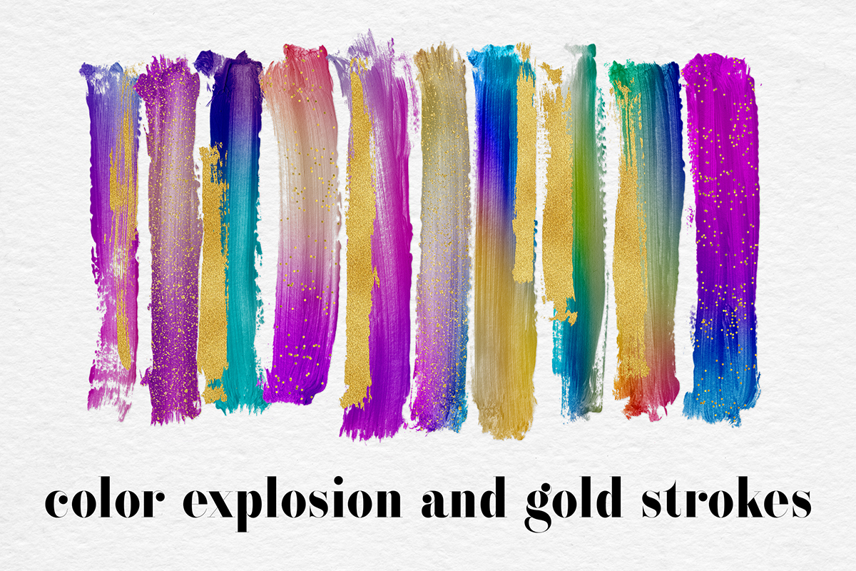 Gradient And Gold Brush Strokes example image 1