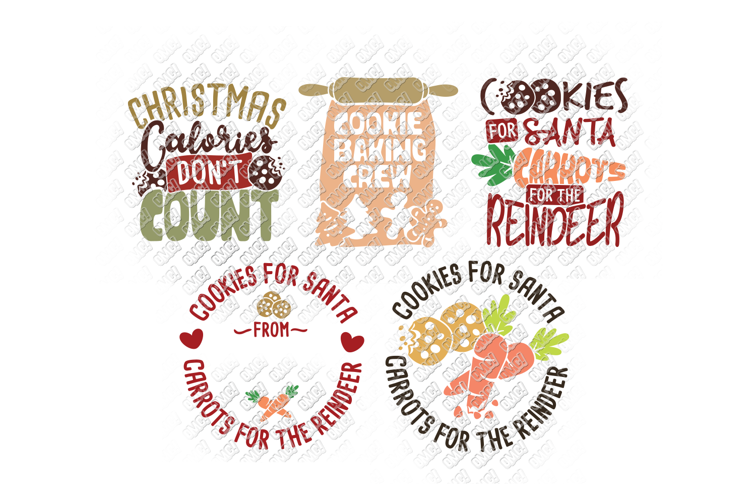 Christmas Cookies SVG Bundle in SVG, DXF, PNG, EPS, JPEG example image 9