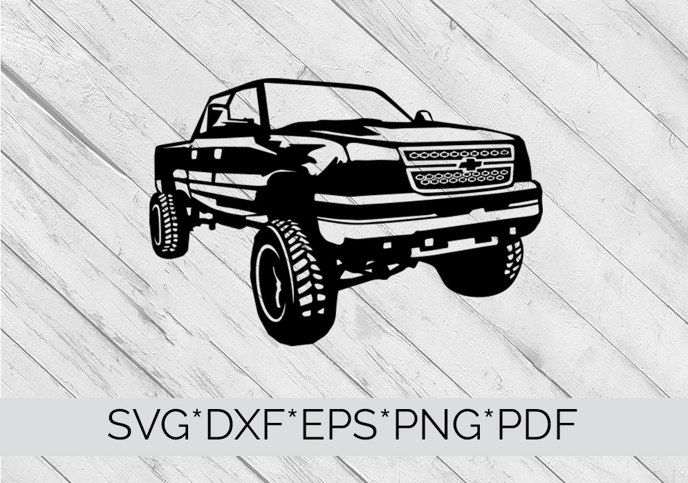 Chevy Truck SVG Cutting File  example image 4