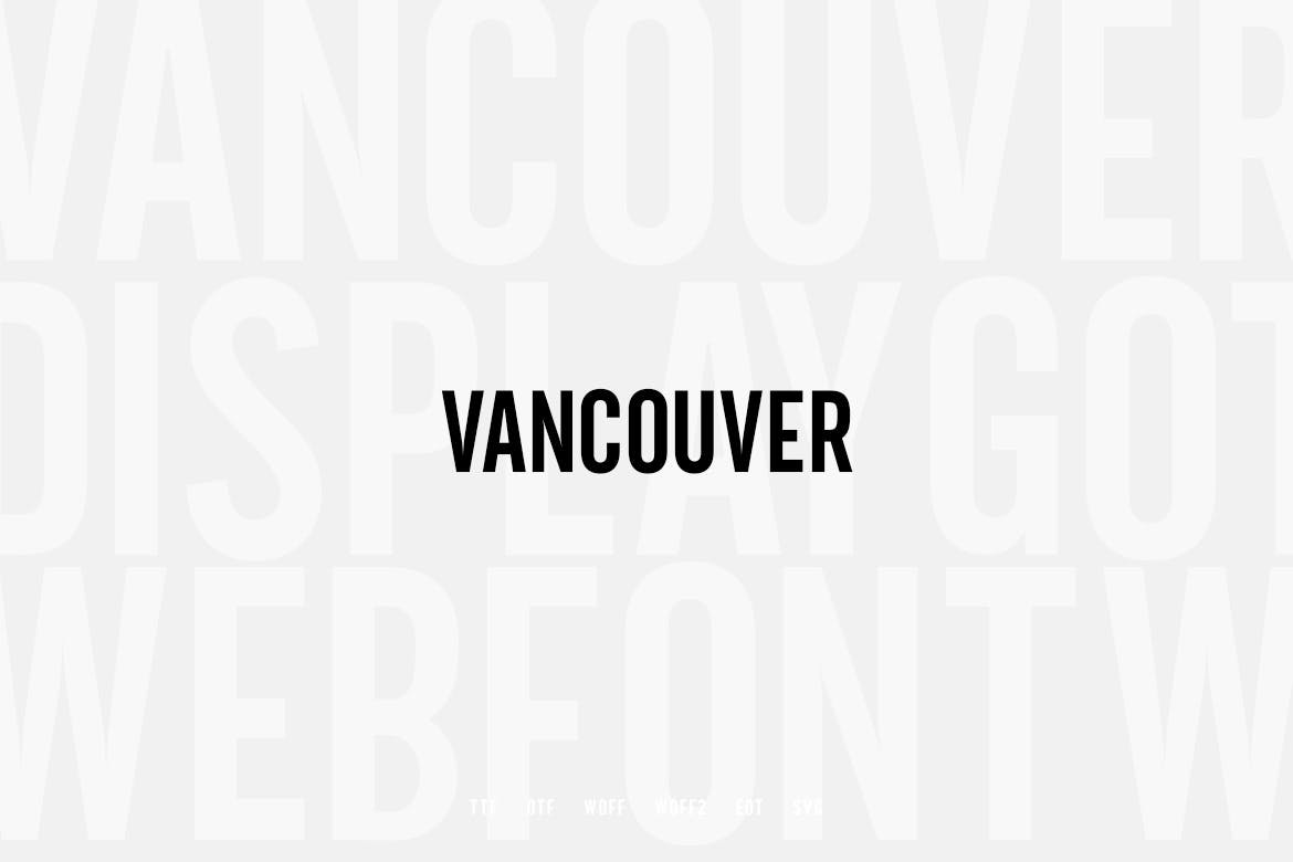 Vancouver - Gothic Typeface example image 3