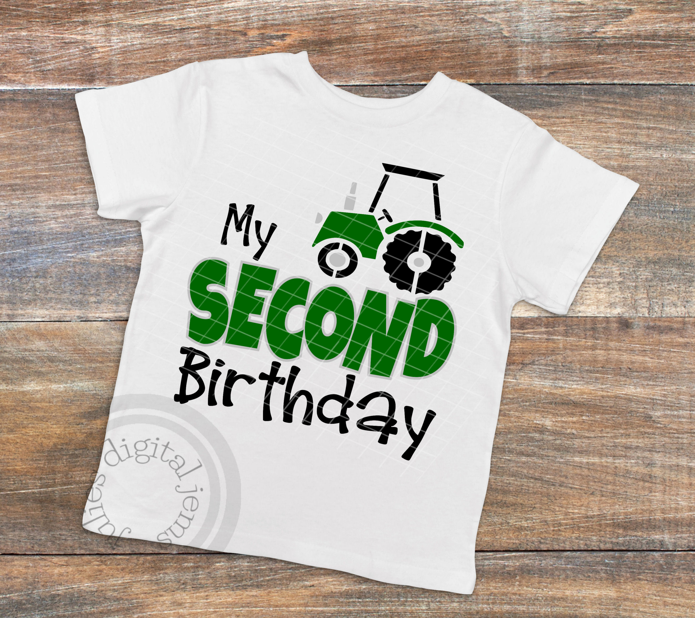 Tractor Birthday SVG Shirt 2nd Example Image 2
