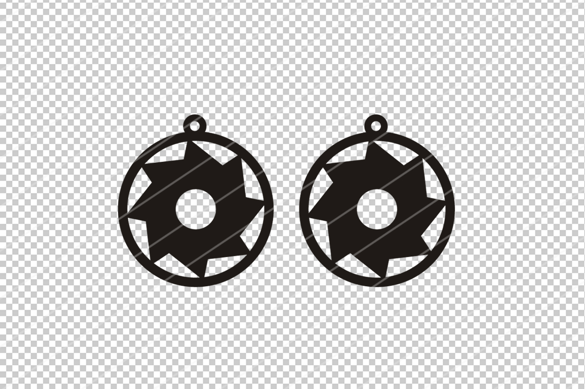 Saw blade earrings,Saw earrings,saw blade clipart, table saw example image 2
