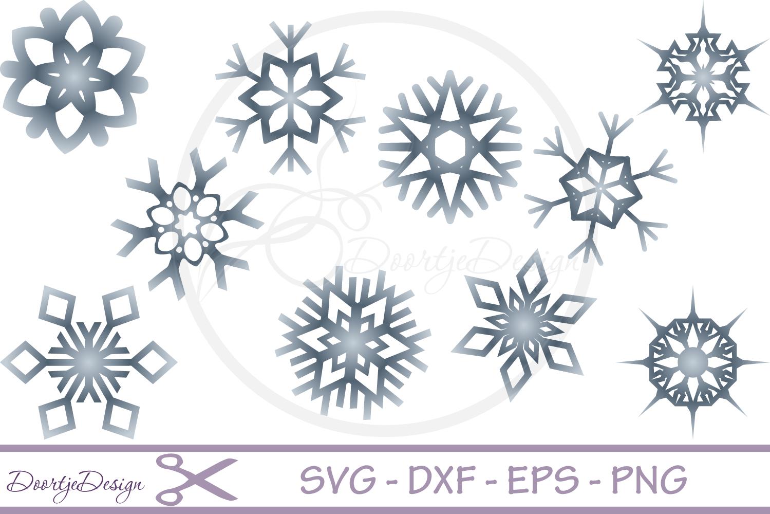 Snowflake SVG, Christmas SVG, Snow Cutting File example image 1