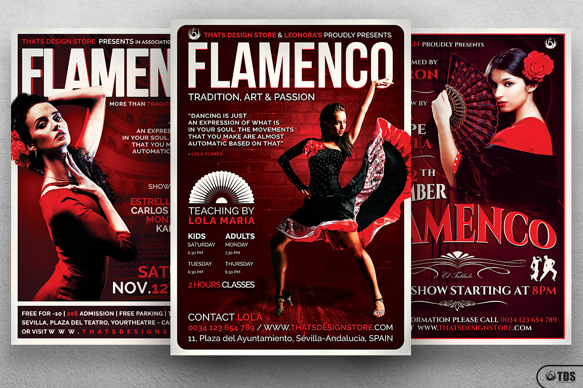 Flamenco Flyer Bundle V1 example image 1
