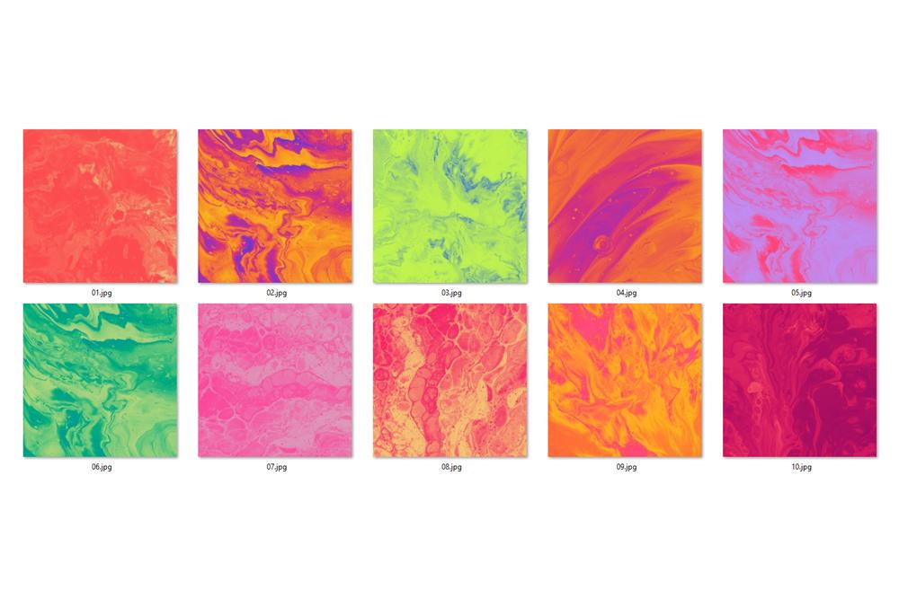 Bright Ink Textures - Liquid Paint Digital Paper example image 2