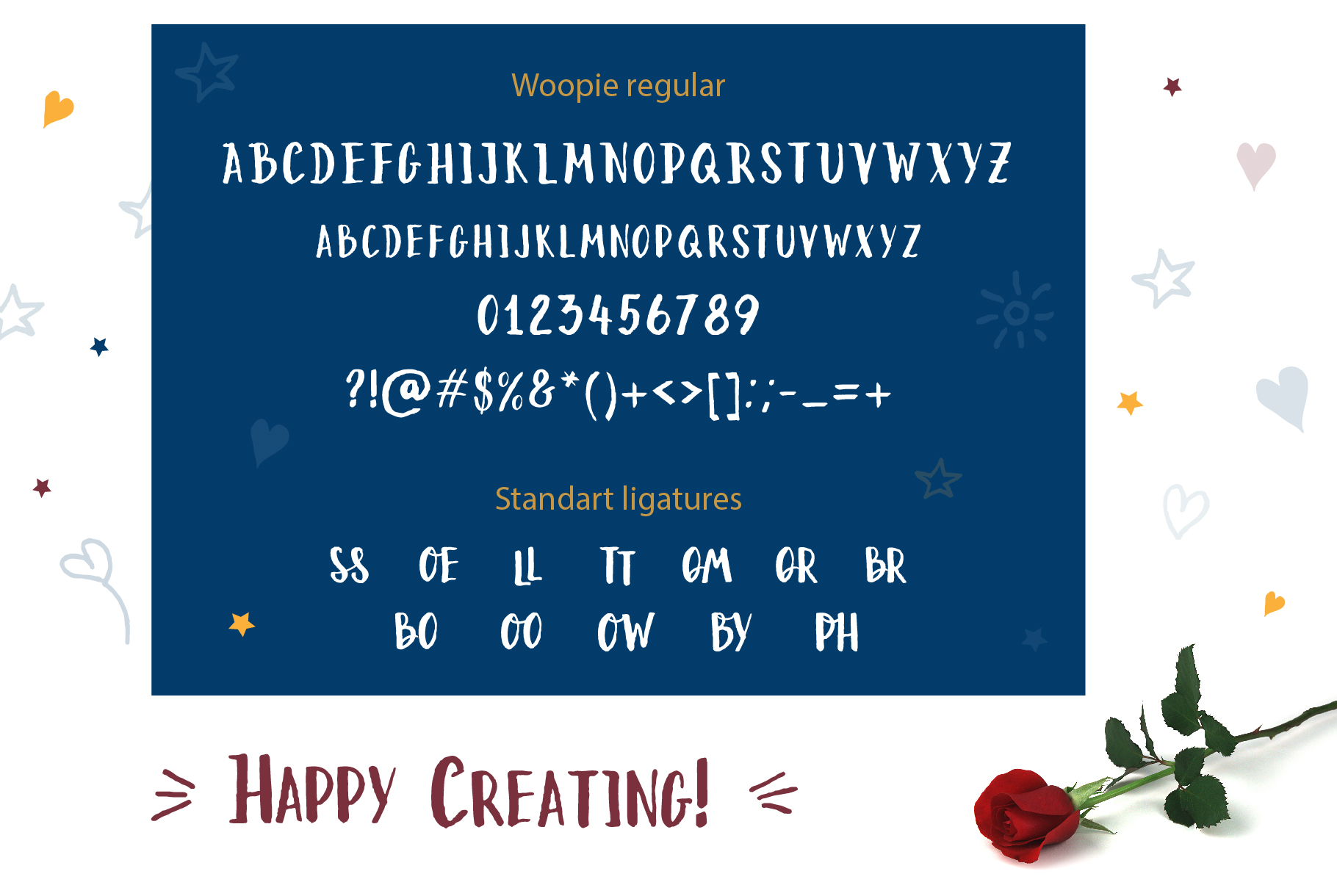 Woopie: a hand-lettered font example image 7