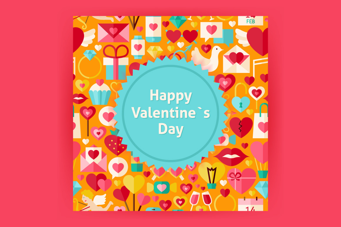 Valentine Day Vector Posters example image 4