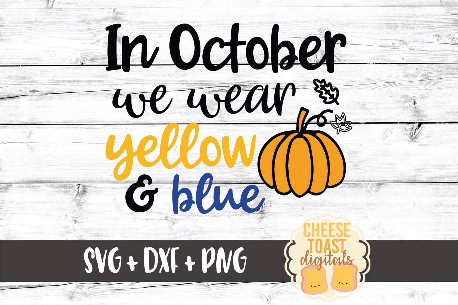 In October We Wear Yellow and Blue - Down Syndrome SVG File example image 2