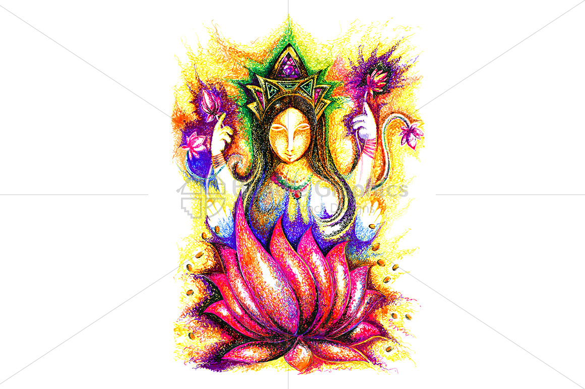 Lakshmi Maa - Ink Graphic example image 1