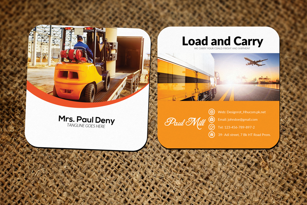 Freight & Shipment Small Business Card example image 1