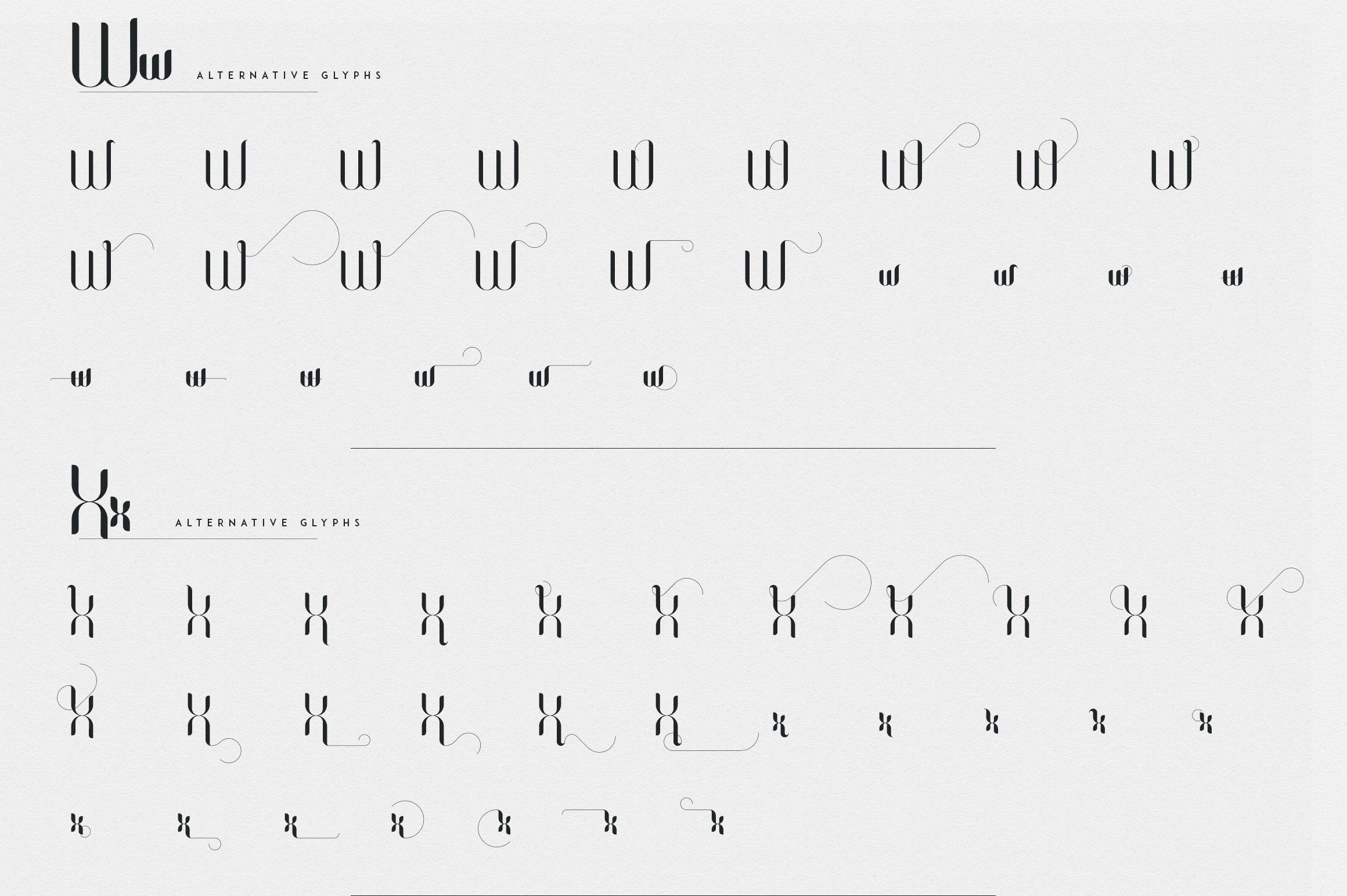 Fonatik Display font Extras example image 22