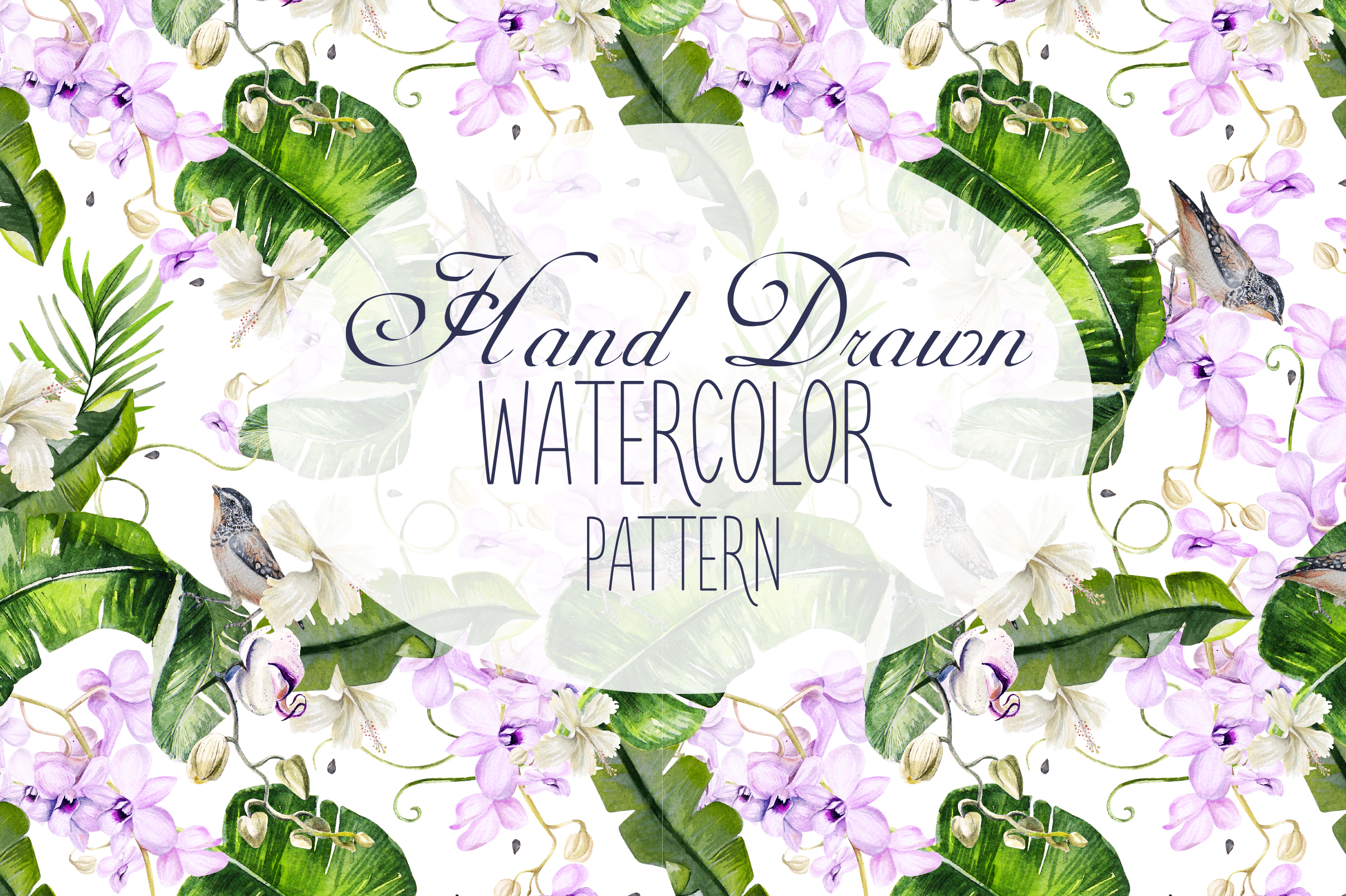 16 Hand Drawn Watercolor Pattern example image 18