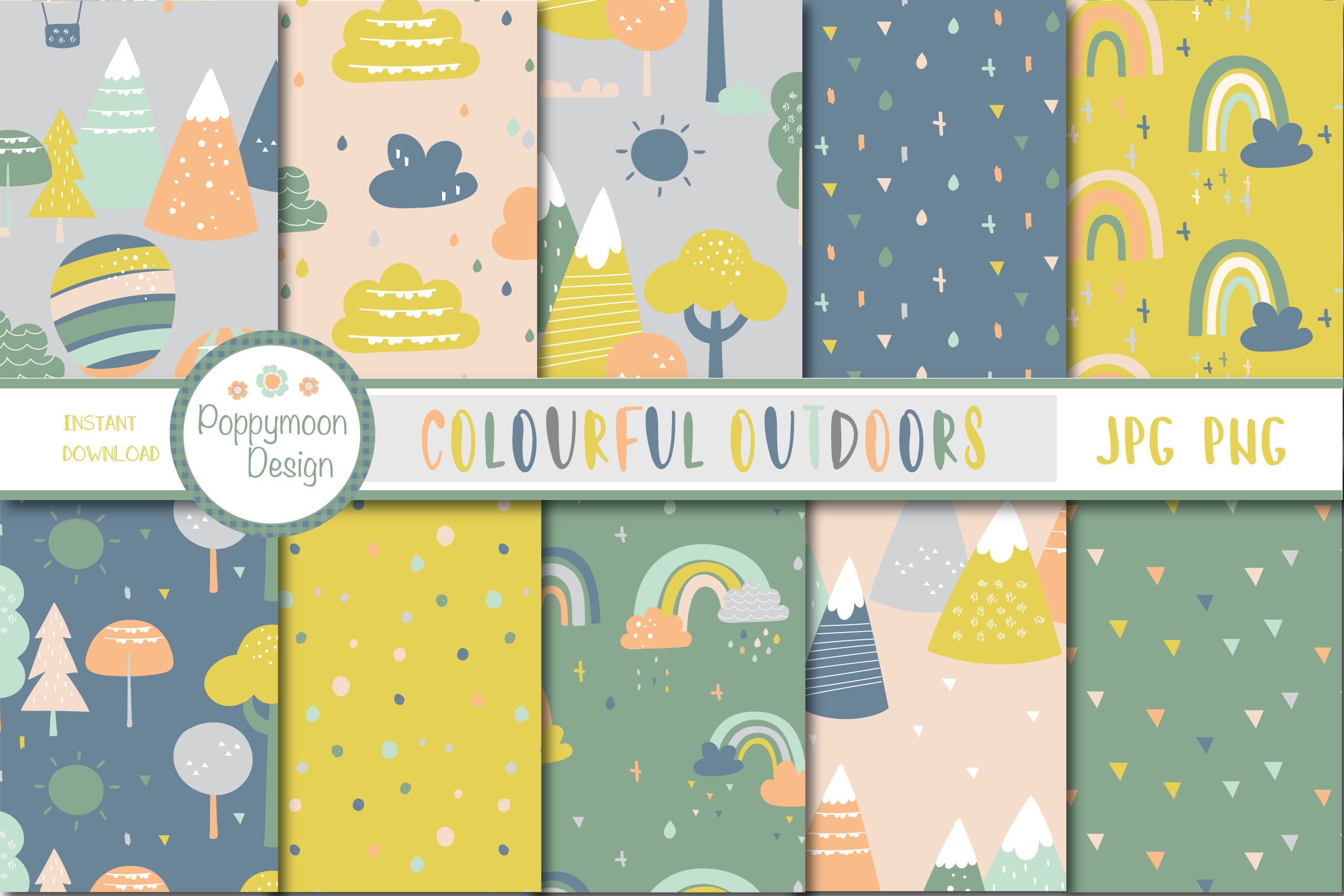 Colourful Outdoors set example image 2