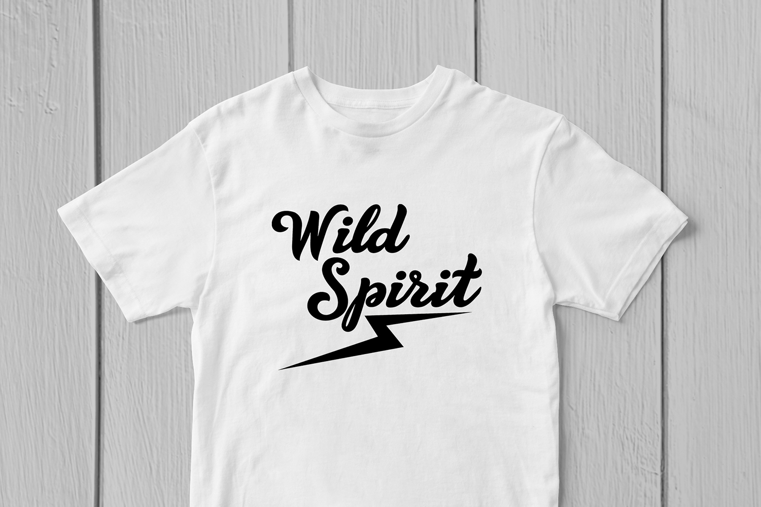 Wild Spirit - Motivational Quote SVG EPS DXF PNG Cut Files example image 2