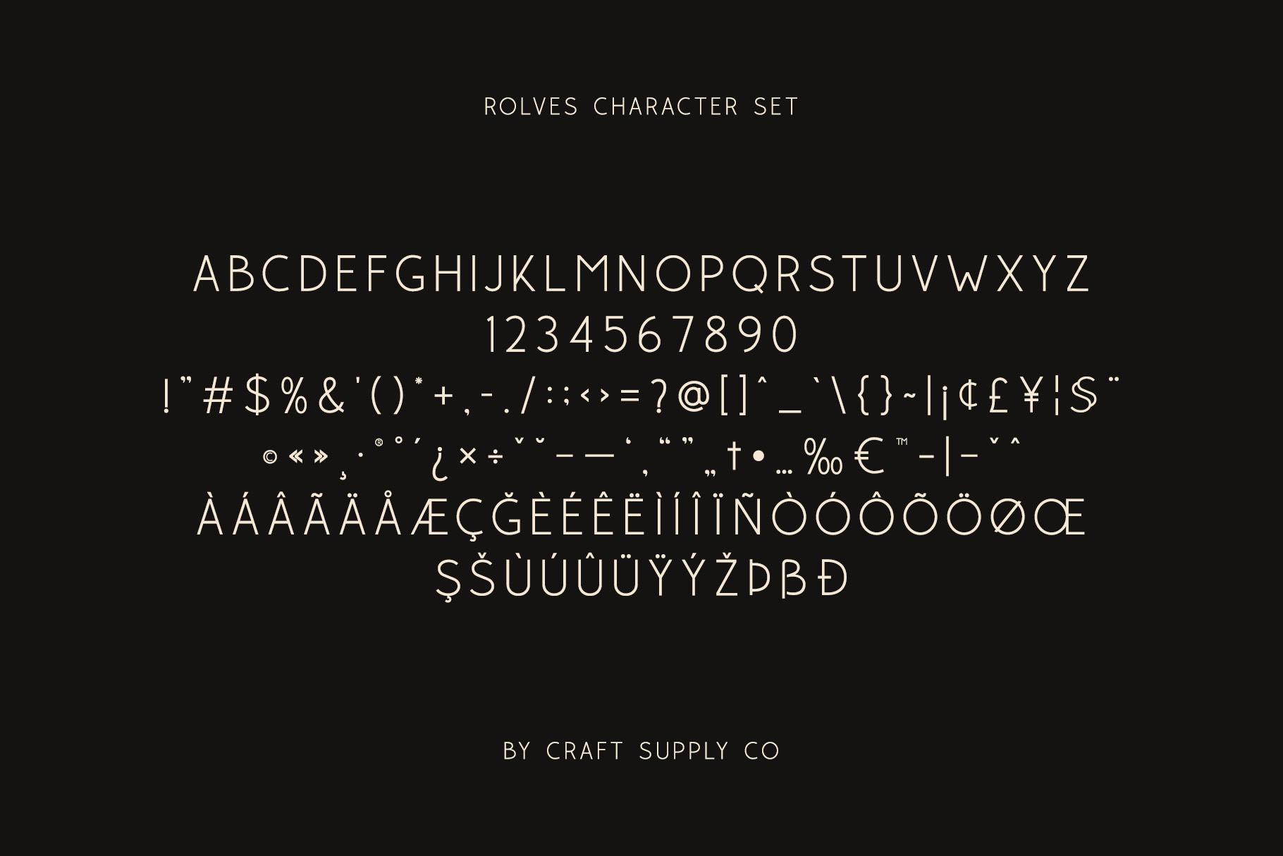 Rolves - Sans Serif Font Family example image 5