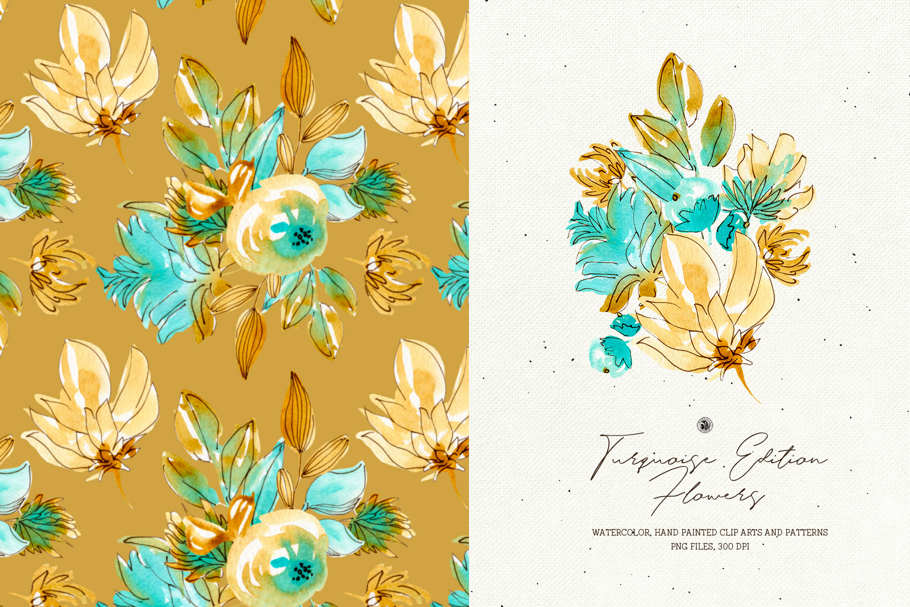 Turquoise Edition Flowers example image 3