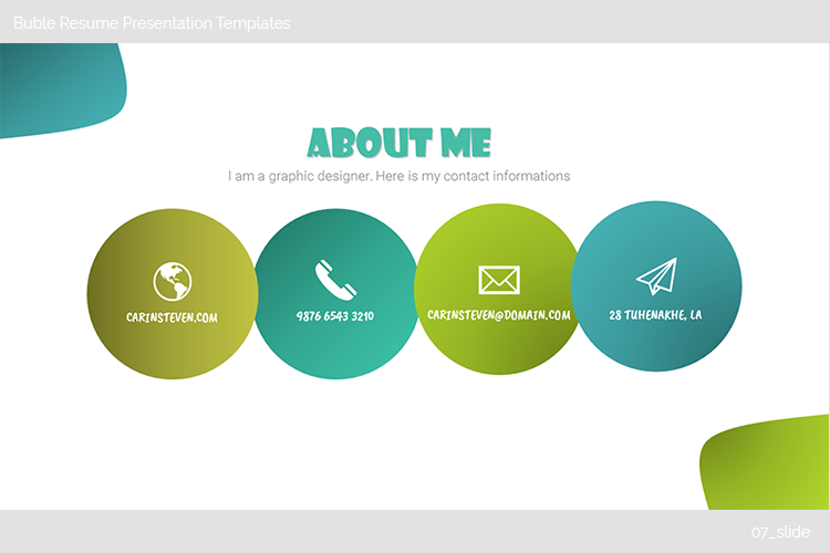 Buble Resume Presentation Templates example image 8