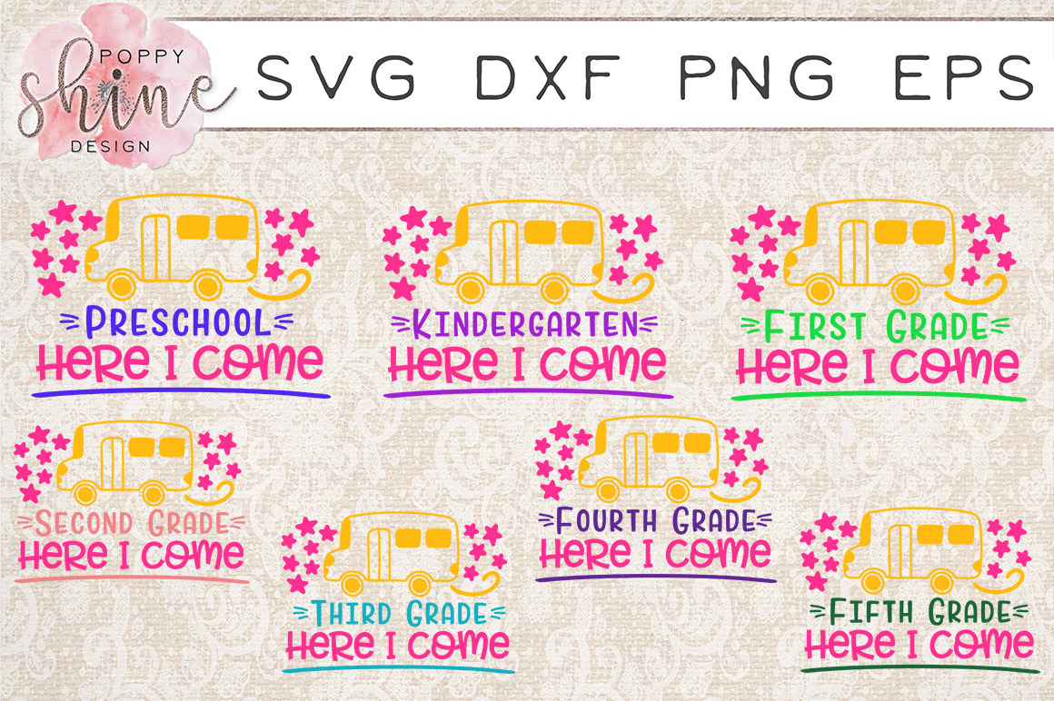 HUGE School Bundle of 41 SVG PNG EPS DXF Cutting Files example image 4