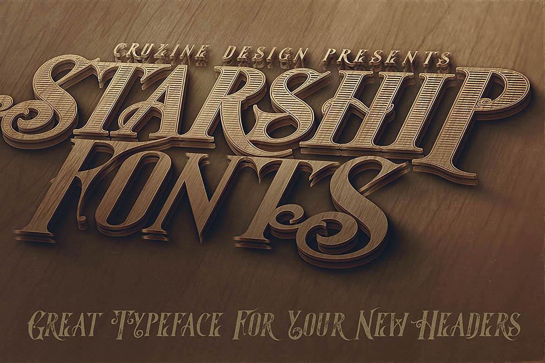 Starship Typeface example image 4