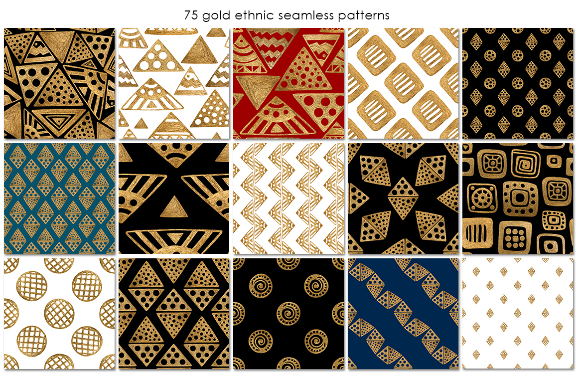 GOLD ETHNIC patterns example image 3