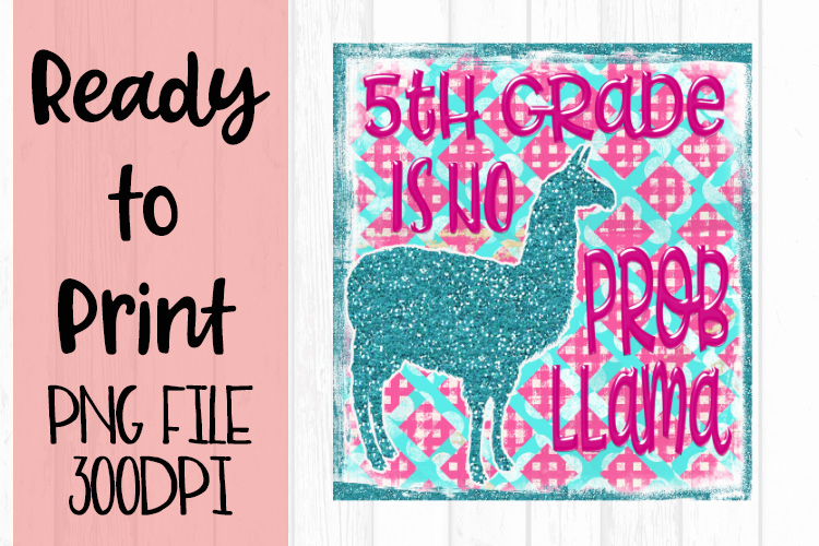 5th Grade is No Probllama Ready to Print example image 1
