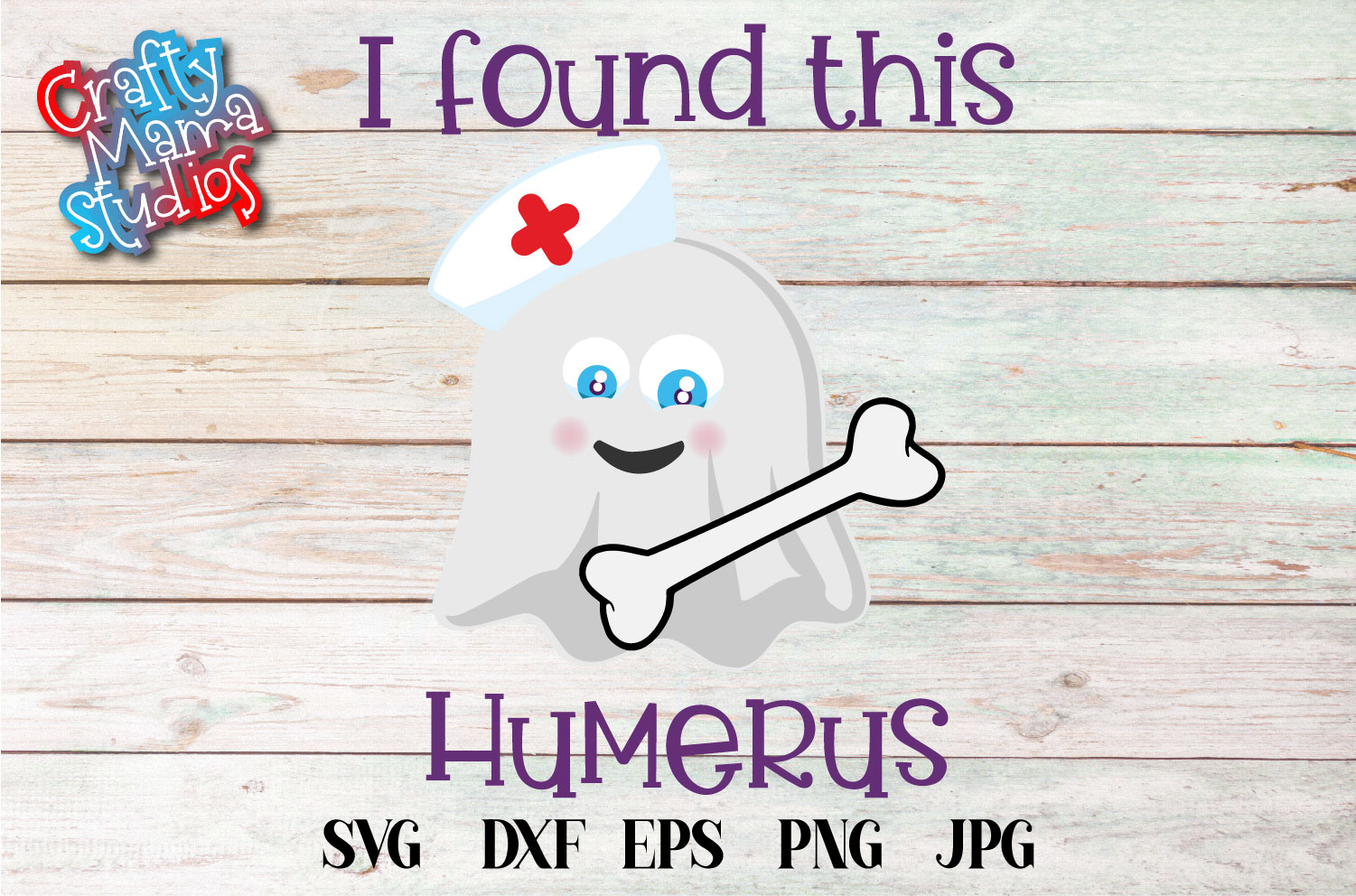 I Found This Humerus Halloween SVG Sublimation, Nurse Doctor example image 2