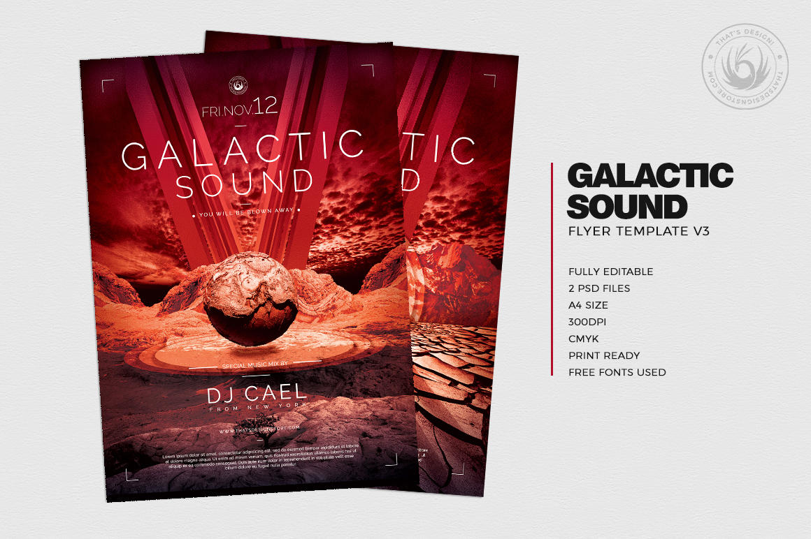 Galactic Sound Flyer Template V3 example image 2